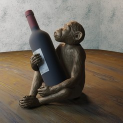 2mono.jpg Download STL file wine carrier chimps • 3D printing design, Aslan3d