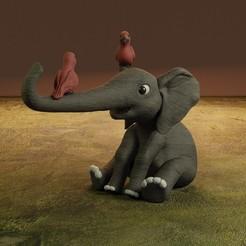 Render8.jpg Download STL file Elephant • 3D printing object, Aslan3d