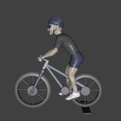 Render1.png Télécharger fichier STL Cycliste • Modèle pour impression 3D, Aslan3d
