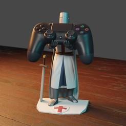 CRUZADO1.jpg Download STL file PS4 CROSSOVER CONTROL HOLDER • 3D printing template, Aslan3d