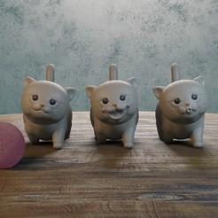 01cats.jpg Download STL file baby cat • 3D printable object, Aslan3d