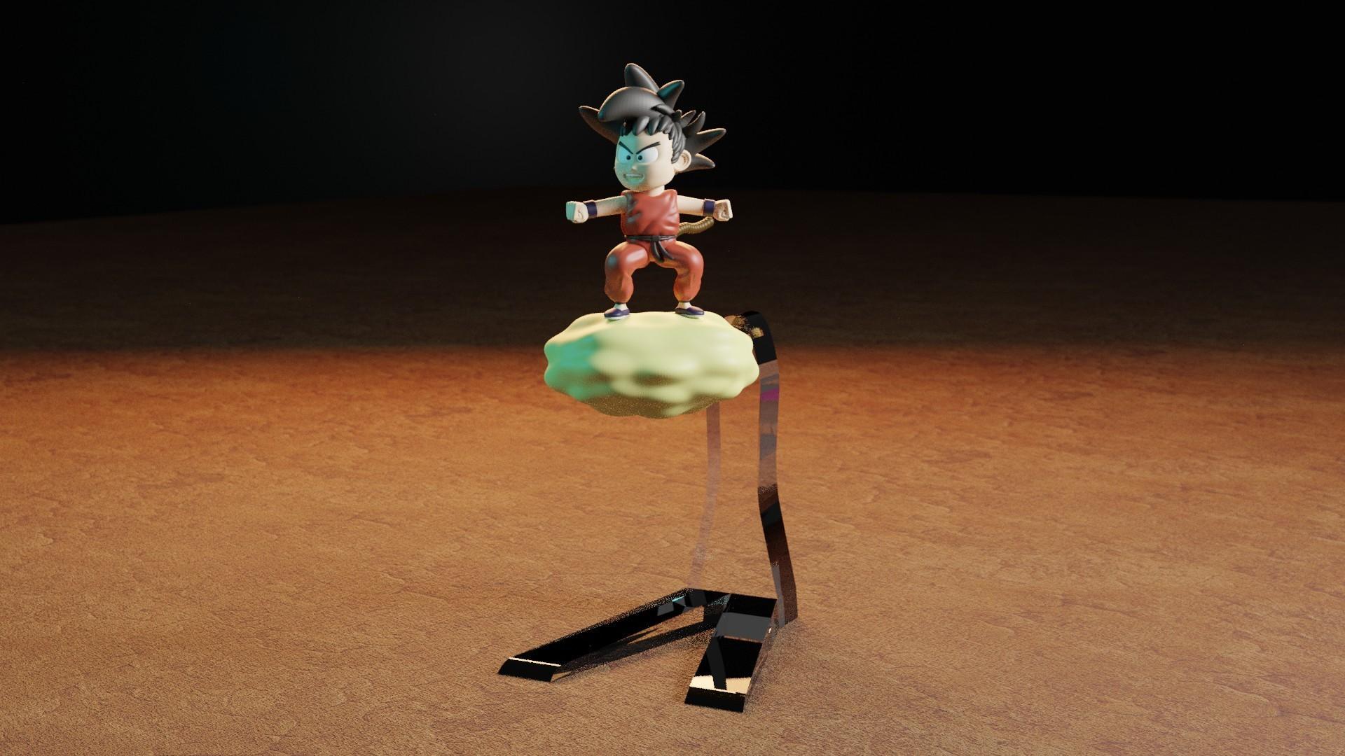 rENDER1.jpg Télécharger fichier STL gratuit L'enfant Goku dans le nuage • Objet pour impression 3D, Aslan3d