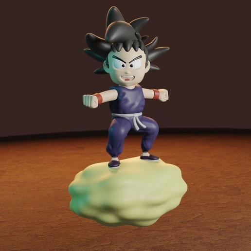 rENDER9.jpg Télécharger fichier STL gratuit L'enfant Goku dans le nuage • Objet pour impression 3D, Aslan3d