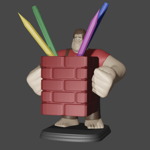 2 ralph.png Download free STL file Ralph the Feather Wrecker • 3D printer design, Aslan3d