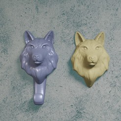 21lobo.jpg Download STL file wolf hanger • 3D printer model, Aslan3d