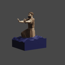 4pocafe.png Download free STL file Man of little faith • 3D printer template, Aslan3d