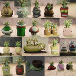 Download 3D printer designs 20 flowerpots, Aslan3d