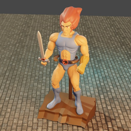 Download 3D printer model Articulated Lion-O, Aslan3d