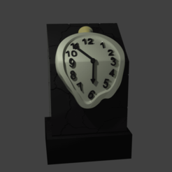 Download free STL files DALI WATCH, Aslan3d