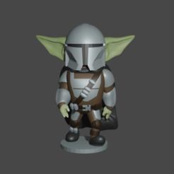 Descargar modelos 3D The mandalorian yoda, Aslan3d