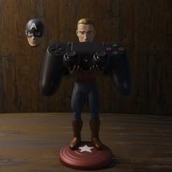 Download 3D printer templates Captain America carries ps4 mendo, Aslan3d