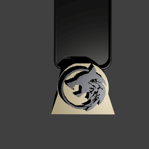 Download free 3D printer templates THE WITCHER CELL PHONE HOLDER, Aslan3d