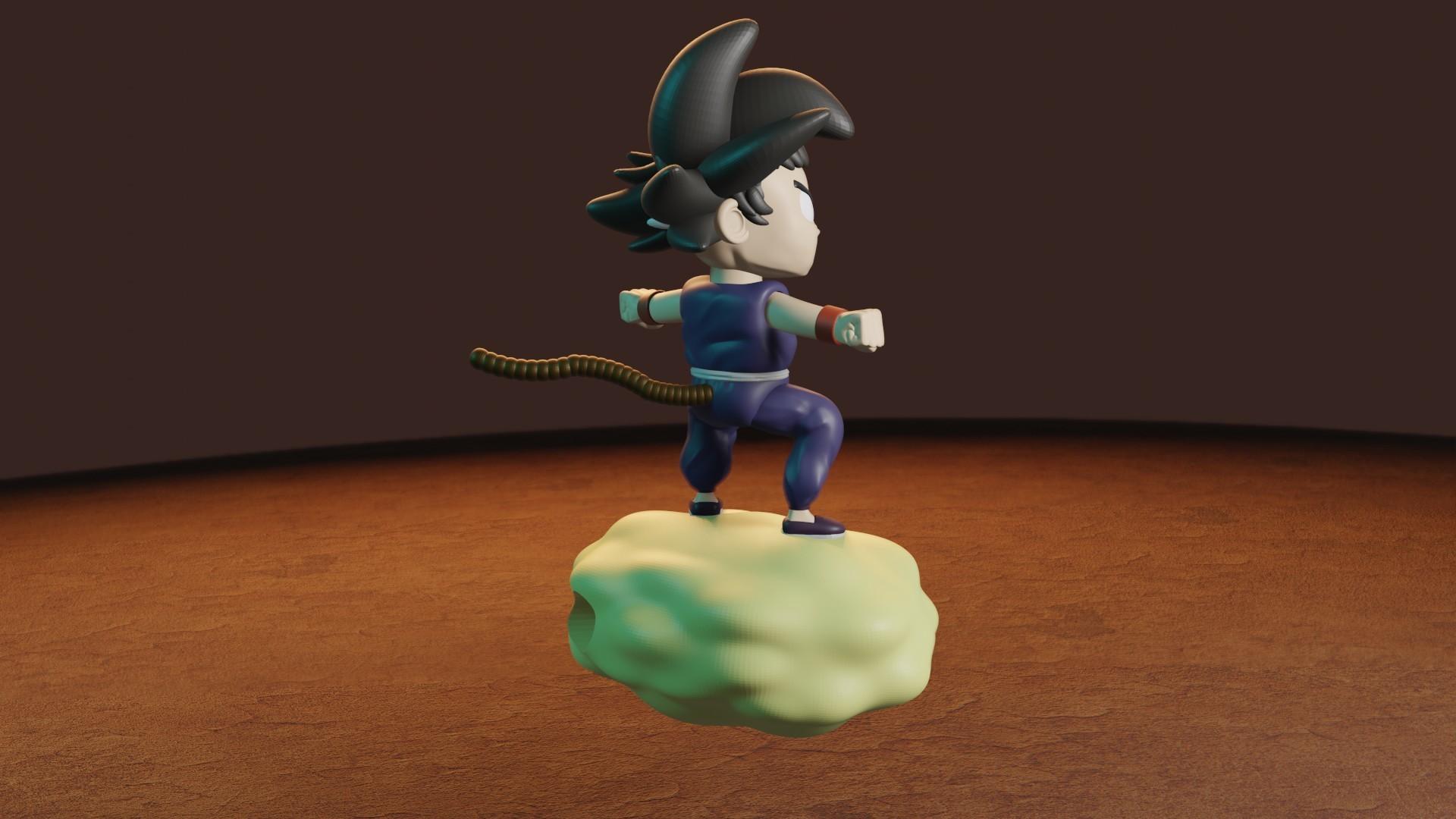 rENDER5.jpg Télécharger fichier STL gratuit L'enfant Goku dans le nuage • Objet pour impression 3D, Aslan3d