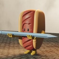 2hotdog.jpg Télécharger fichier STL porte-crayon pour les hommes pleins • Modèle pour imprimante 3D, Aslan3d
