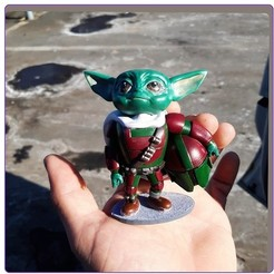Download STL file baby yoda mandalorian • 3D print design, Aslan3d