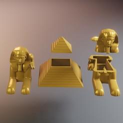1egipto.jpg Download STL file Egypt box sculpture • 3D printable template, Aslan3d