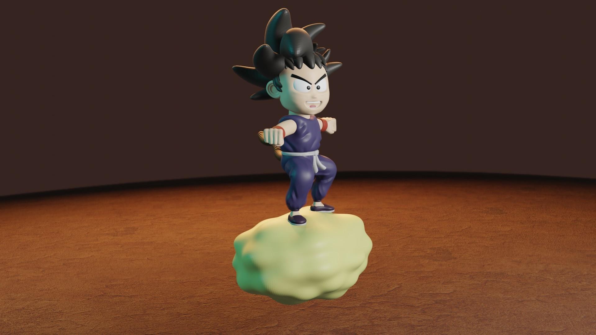 rENDER3.jpg Télécharger fichier STL gratuit L'enfant Goku dans le nuage • Objet pour impression 3D, Aslan3d
