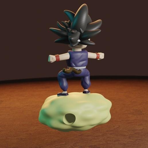 rENDER6.jpg Télécharger fichier STL gratuit L'enfant Goku dans le nuage • Objet pour impression 3D, Aslan3d
