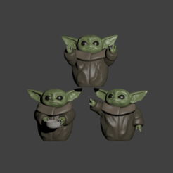 Download STL baby yoda for 3, Aslan3d