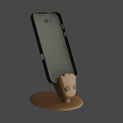 Download 3D printing templates GROOT IPHONE, Aslan3d