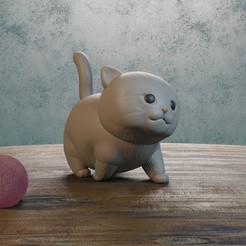 Descargar modelo 3D baby cat, Aslan3d
