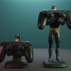 Render1.jpg Télécharger fichier STL Titulaire du contrôleur Batman PS4 • Plan à imprimer en 3D, Aslan3d