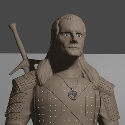 Impresiones 3D THE WITCHER (Henry Cavill), Aslan3d