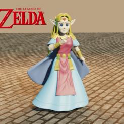 Download 3D printer designs Princess Zelda, Aslan3d