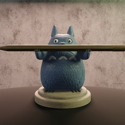 Descargar archivos STL Totoro porta pluma, Aslan3d