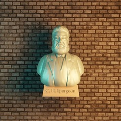 1CH SPURGEON.jpg Download STL file c. h. spurgeon • 3D printing model, Aslan3d