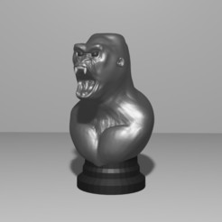 Download 3D printing models ROOK CHESS - GORILLA, Aslan3d