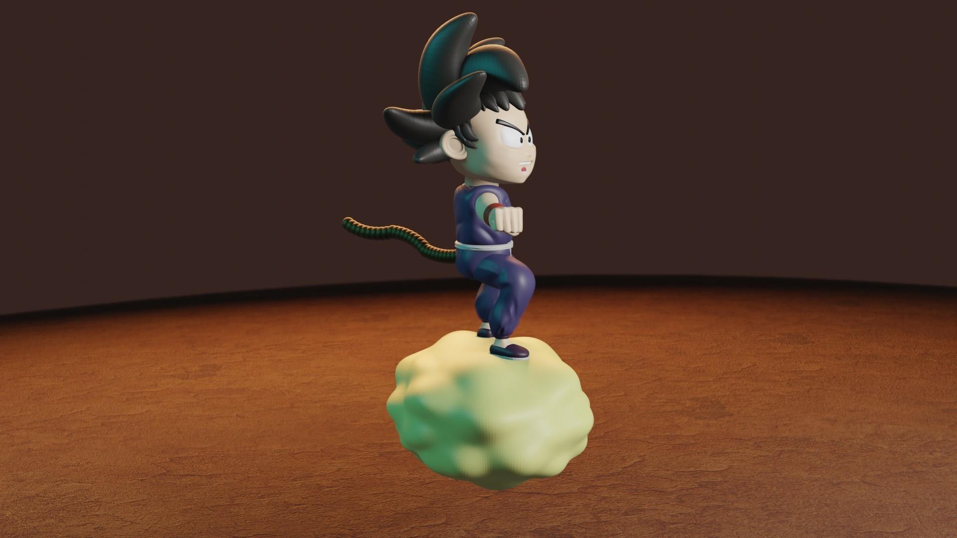 rENDER4.jpg Télécharger fichier STL gratuit L'enfant Goku dans le nuage • Objet pour impression 3D, Aslan3d