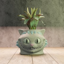 Descargar STL Cat cheshire planter, Aslan3d