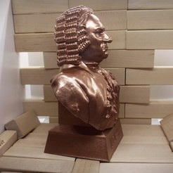 bach3.jpg Download STL file Johann Sebastian Bach • 3D printable object, Aslan3d