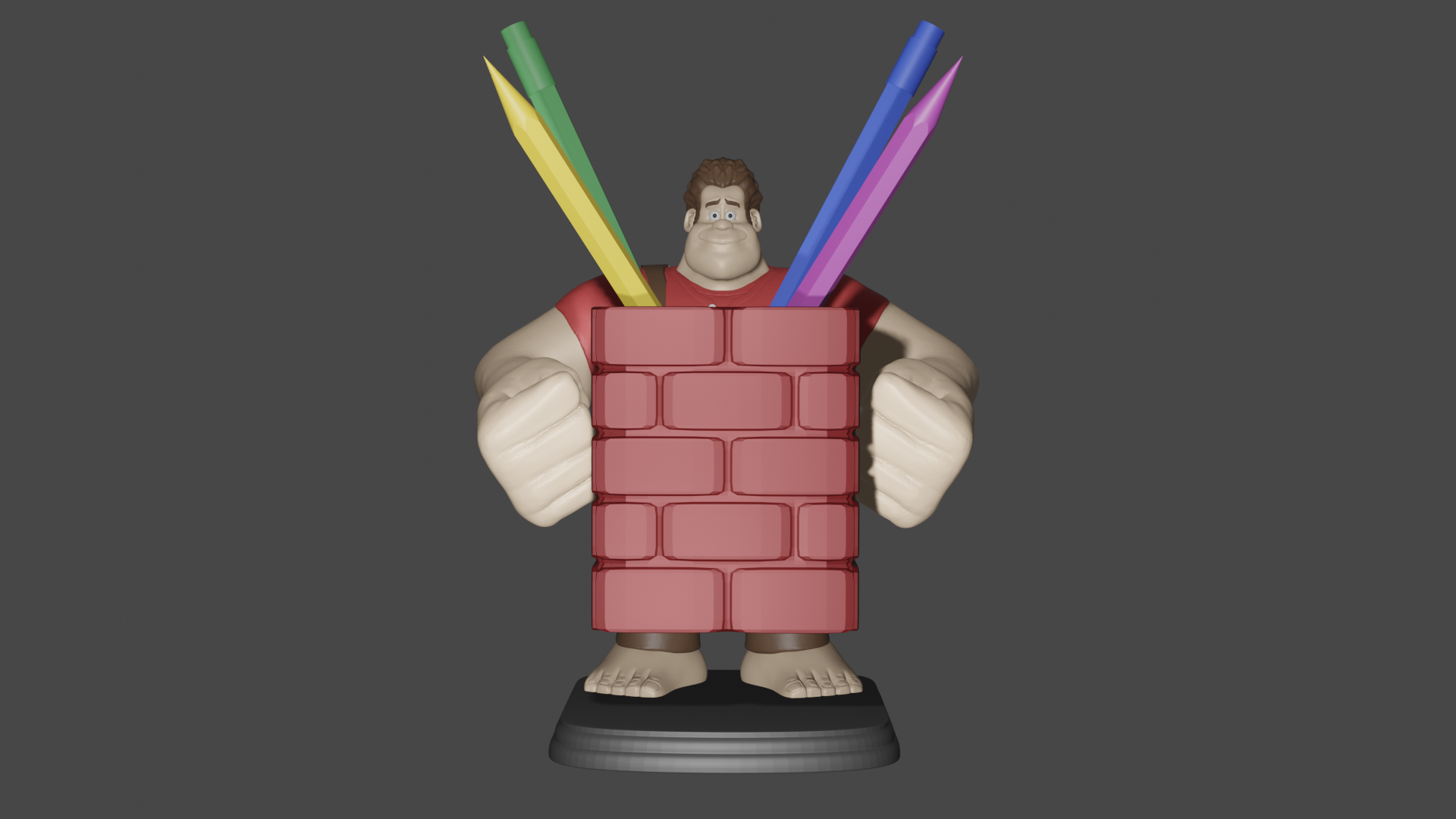 1 ralph.png Download free STL file Ralph the Feather Wrecker • 3D printer design, Aslan3d