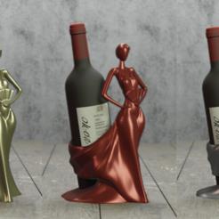 1.png Download STL file WINE BOTTLE HOLDER • 3D print object, Aslan3d