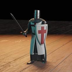 Download 3D printing files Knight Templar, Aslan3d