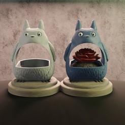 Download STL file Planter Totoro, Aslan3d