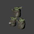 Télécharger fichier 3D bébé yoda pour 3, Aslan3d
