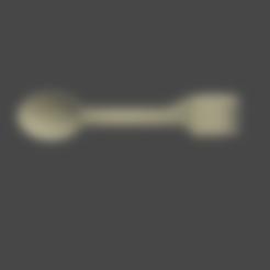 1 cubiertos en uno.stl Télécharger fichier STL gratuit Couvert en un seul • Design à imprimer en 3D, Aslan3d