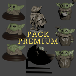 Download 3D printing models Baby Yoda - the mandalorian pack, Aslan3d