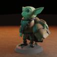 Download 3D printer designs baby yoda mandalorian, Aslan3d