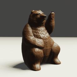 3 Oso.png Download STL file waving bear • Template to 3D print, Aslan3d
