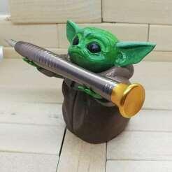 IMG_20200903_170744_399.jpg Download STL file BABY YODA PEN HOLDER • 3D printer object, Aslan3d