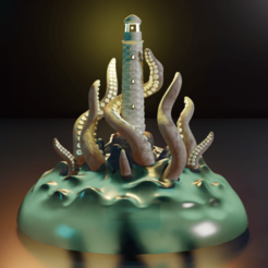 Render2.png Download STL file kraken lighthouse • 3D printing template, Aslan3d