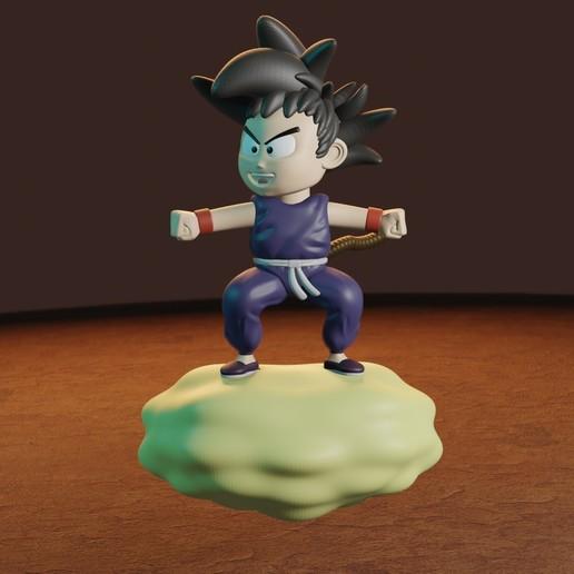 rENDER8.jpg Télécharger fichier STL gratuit L'enfant Goku dans le nuage • Objet pour impression 3D, Aslan3d