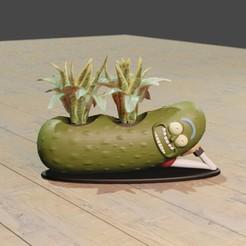 pepino4.jpg Télécharger fichier STL Planteur Pickle Rick • Objet pour impression 3D, Aslan3d