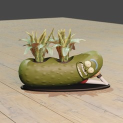 pepino4.jpg Download STL file Pickle Rick planter • 3D print object, Aslan3d