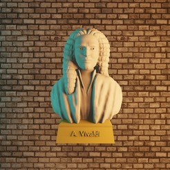 01vivaldi.jpg Download STL file Antonio Vivaldi • Object to 3D print, Aslan3d
