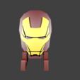 render1png.png Télécharger fichier STL gratuit Détenteur d'un téléphone portable Iron Man • Design pour impression 3D, Aslan3d